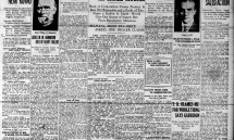 Front page Aug. 27, 1915: Concern over gas prices, slaughtering of cattle