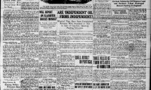 Front page Aug. 28, 1915: 'Are