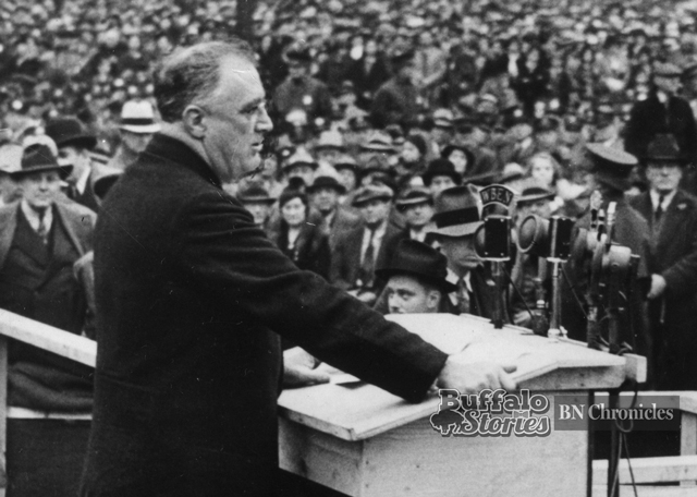 Image result for fdr dedicates hyde park stadium