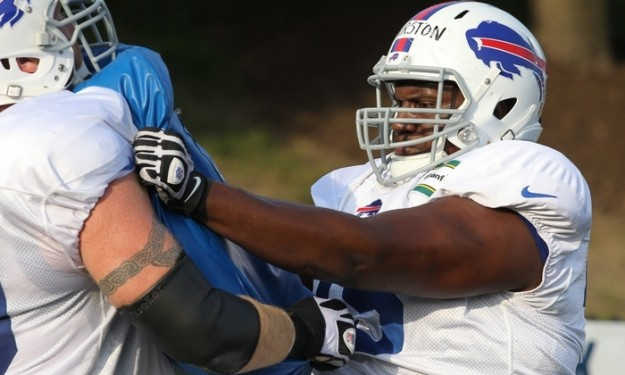 Battle is on at right guard for Bills