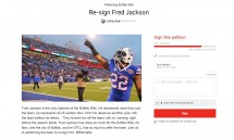 Thousands sign online petition asking Bills to re-sign Fred Jackson