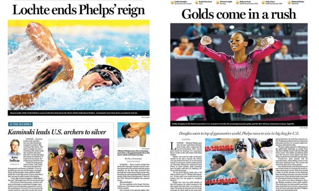 Dramatic Olympics pages get recognition -- and so does former Buffalo News reporter Juan Forero