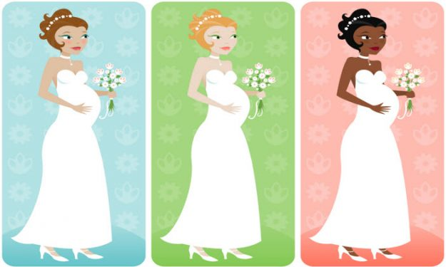 What To Expect When You're An Expectant Bride