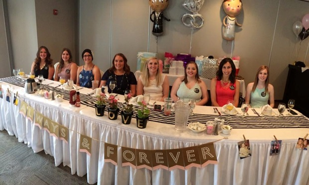 Brittany and her bridal party!