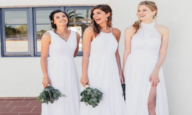 Who Says Bridesmaids Can't Wear White?!?