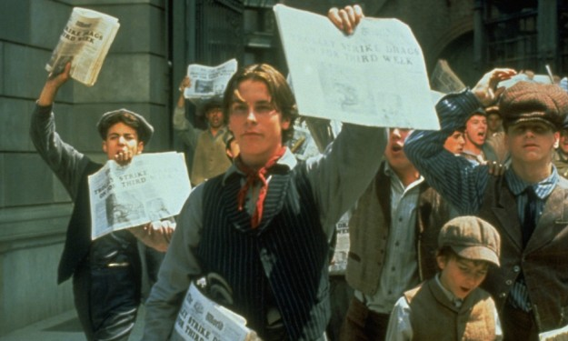 Christian Bale sings, dances, strikes in 'Newsies'