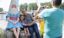 'Shark Girl' marks one year at Canalside