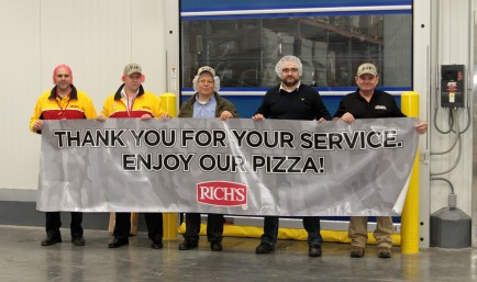Pizza 4 Patriots teamed up with Rich Products Corporation, a leading pizza supplier, and DHL Express, to send 5,000 pizzas to U.S. soldiers in Afghanistan just in time for Super Bowl Sunday.