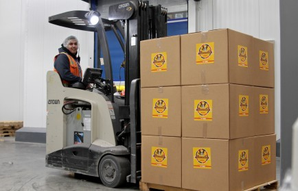 The pizzas were made and loaded from the Crest Hill, Illinois plant, and the product was shipped to Afghanistan by DHL Express on Jan. 16. (Laurie Manzardo)