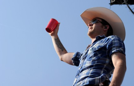 Justin Moore, performing above during the Stagecoach Country Music Festival in 2012, won over fans on Wednesday night at UB. (Getty Images)