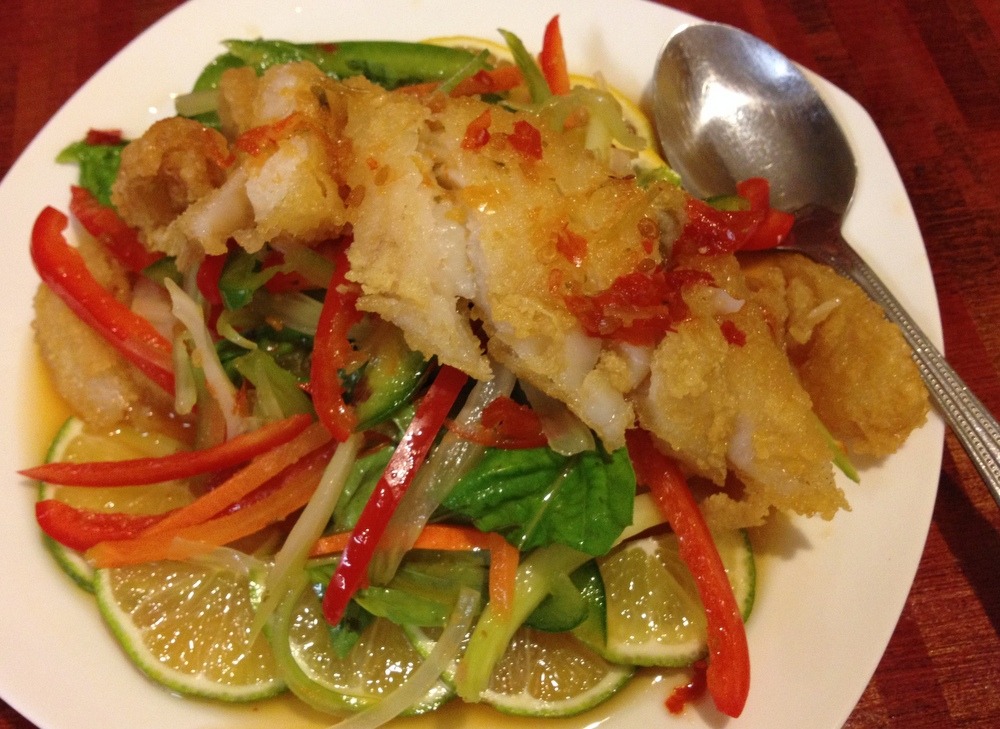 Thai fish salad, a special, at Miss Hot Cafe (Special to the News ...