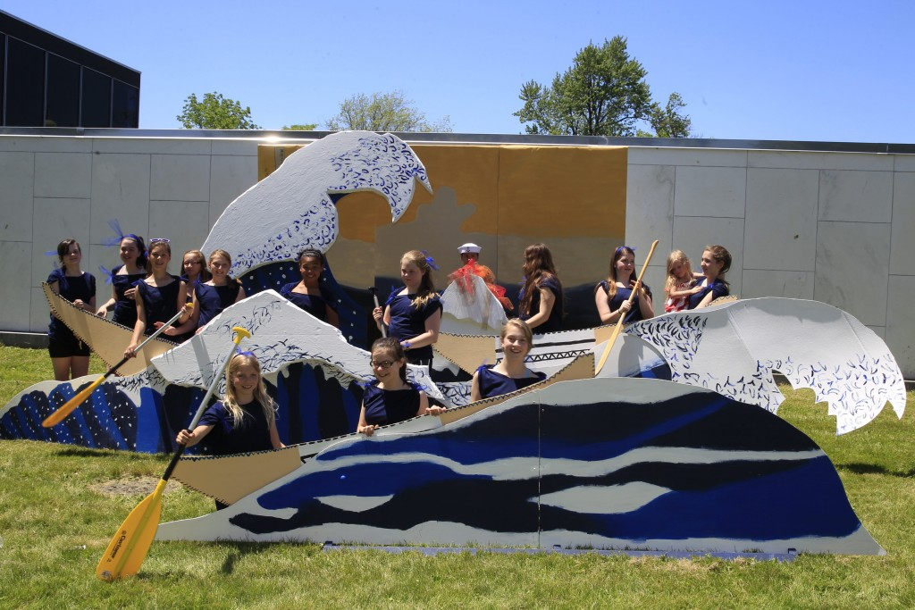 St. Christopher's  School  grade K-8   recreates  Katsushika Hokusai's The Great Wave Off Kanagawa, 1823 at ArtAlive at the Albright Knox Art Gallery in Buffalo, N.Y., on  Saturday, June 7, 2014.   (John Hickey/Buffalo News)