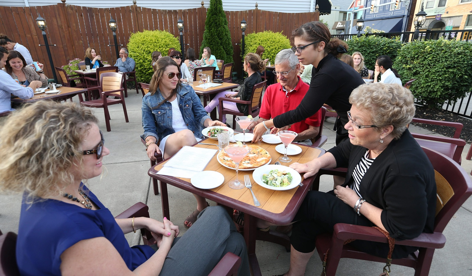 As the weather improves, Cecelia's will open its spacious patio for brunch. (Sharon Cantillon/Buffalo News)