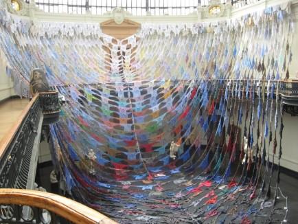 Kaarina Kaikonnen's 2013 installation in the Museum of Fine Arts in Santiago Chile. (kaarinakaikkonen.com)