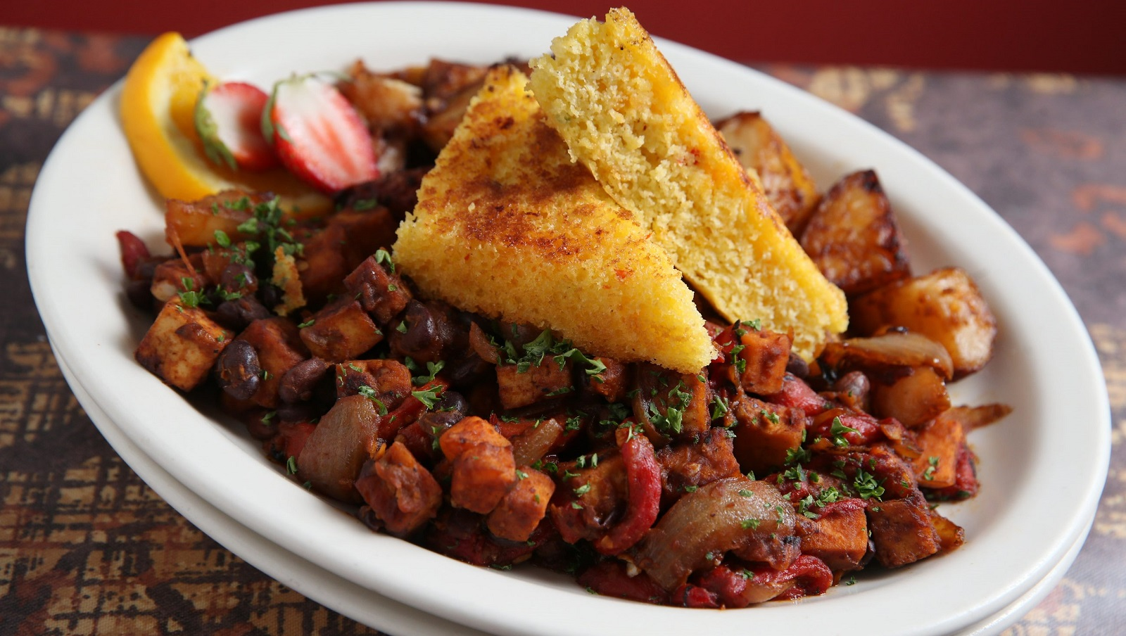 Scrambled tofu hash from Betty's is a terrific brunch option. (Sharon Cantillon/Buffalo News file photo)