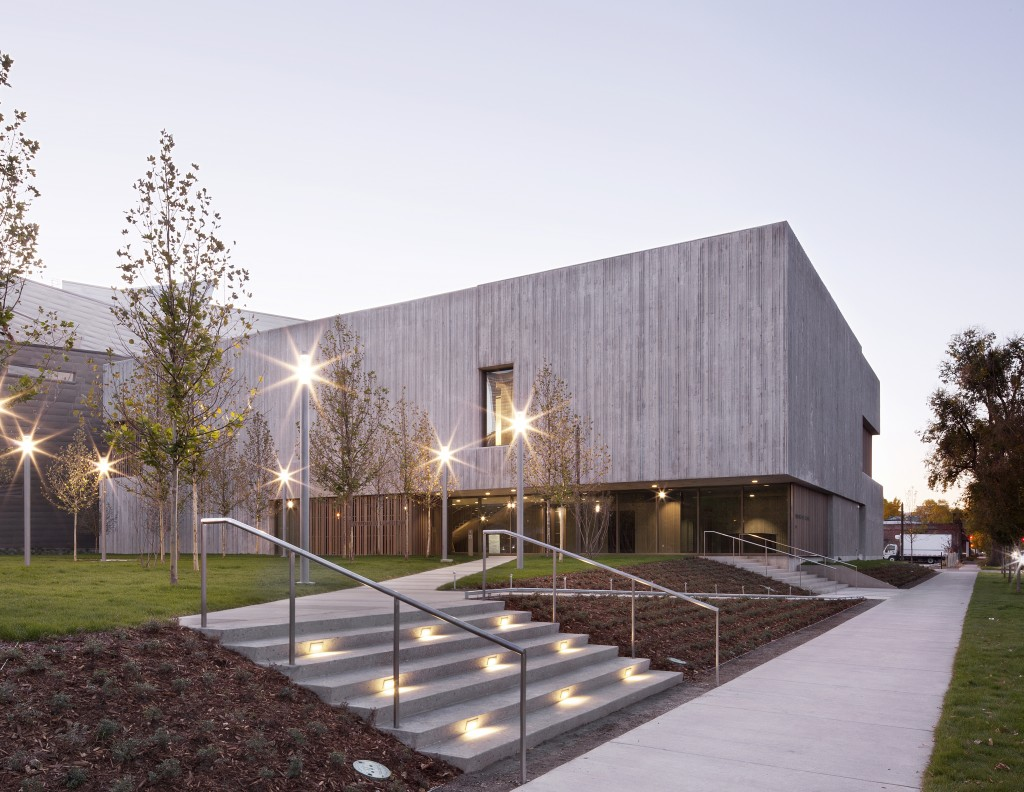 The new Clyfford Still Museum, designed by Allied Works Architecture with landscape architecture by Reed Hilderbrand Associates.