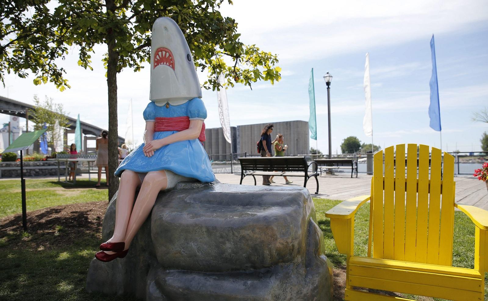 Shark Girl on the Move